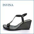 invina インビナ iv820bl ブラック 【上品ソフトエナメル レザー・・おしゃれキレイな・・INVINA・・150g ウェッジサンダル】