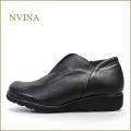 nvina エヌビナ nv7872bl  ブラック  【可愛い丸さのオブリック・・シンプルで決めよう。。nvina  ・センターゴア・スリッポン】