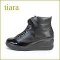 tiara ティアラ ti1520bl ブラック 【可愛いリボンのすっきりスタイル・・tiara・・新鮮・厚底ソールで・・楽らく 歩き放題・】