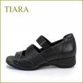 tiara ティアラ ti3727bl  ブラック  【スポッ と履けるベルトがポイント・・安心できるしっかりヒール tiara  履きやすいオープントゥ】