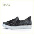 tiara ティアラ ti7303bl ブラック 【可愛いフリルフリル・・おしゃれ素材の箔加工・・tiara クッションスニーカー】