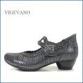 vigevano  ビジェバノ vg7026blme ブラックメタ 【靴職人手作りの1足・・しっかり包む感じ・・ vige vano ベルトパンプス】
