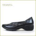 vitanova ビタノバ vt8360bl  ブラック 【小足にみせる チョット深めのVカット・・バツグンの軽さとクッション。vitanova シンプル カッタ―パンプス】