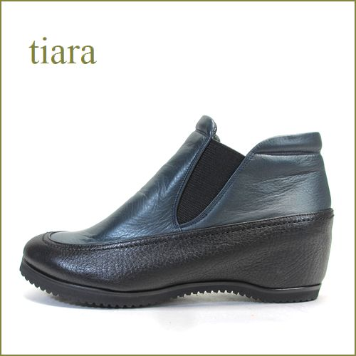 tiara ティアラ ti3017nv ネイ—ビ—グリーンブラック 【足に優しいソフトな仕上げ・・スポッと履ける・・tiara アンクルブ—ティー】