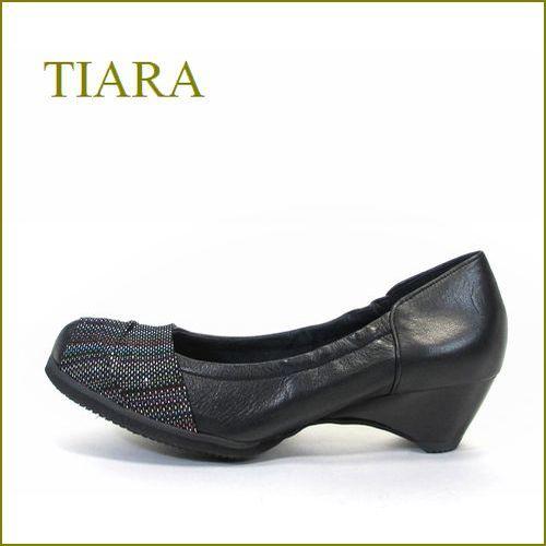 tiara ティアラ ti902bl ブラック 【履き口ゴムでフィット・ソフトレザーでもっとフィット・tiara・快感パンプス 】