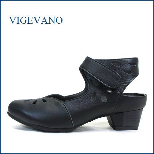 vigevano  ビジェバノ vg1860bl ブラック 【靴職人 技有りの1足・・外販拇指を忘れてしまう履きやすさ。 vige vano ベルトパンプス】