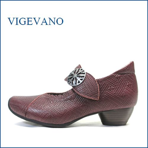 vigevano  ビジェバノ vg7004wi ワイン 【靴職人手作りの1足・・優しく包む感じ・・ vigevano ベルトパンプス】
