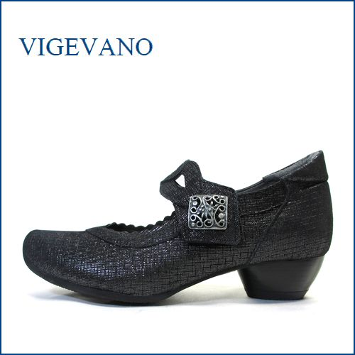 vigevano  ビジェバノ vg7026blm ブラック 【靴職人手作りの1足・・優しく包む感じ・・ vige vano ベルトパンプス】