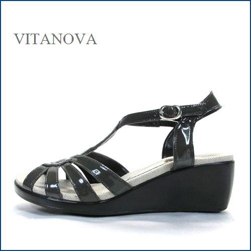 vitanova   ビタノバ  vt9625gy  グレイ 【柔らかソールで快適・・すっきりエナメル素材。。vitanova サンダル】