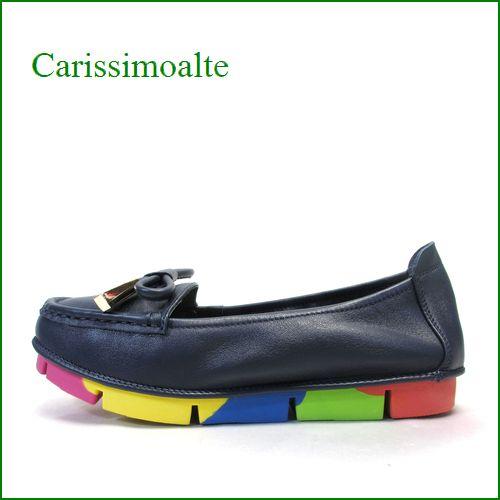 carissimo alte カリシモアルテ cs00312nv  ネイビー 【可愛さ満開・・ carissimoalte ソフトなソールの・・*リボン*スリッポン】