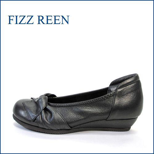 FIZZ REEN フィズリーン fr10bl ブラック 【今スグなじむ 柔らかレザーと・・かわいい丸さの・・fizzreen リボン・パンプス】