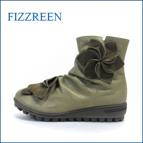 fizz reen フィズリーン fr1573ch チャコール 【かわいい ボンボンお花と・・新型ロープソール・・FIZZREEN・・ 楽らく ラウンドショート】