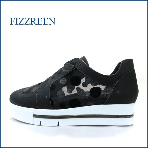 fizz reen フィズリーン fr2161bl  ブラック 【ウェーブアーチでやすらぎ体感・・リラックス効果。。fizzreen 水玉模様のスニーカー】