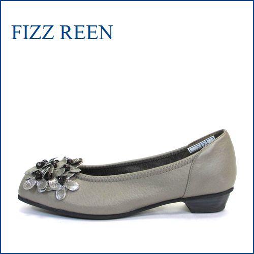 fizz reen フィズリーン fr3277gy CHグレイ 【かわいい小花が咲いている・・ ぴったり FIT の・・FIZZREEN 柔らかレザーパンプス】