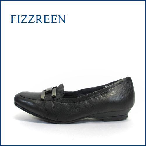 fizzreen フィズリーン fr337bl  ブラック 【スポッ と履けて・・ゴムゴムFIT・・足裏リラックスの・・・FIZZREEN・・ローファースリッポン】