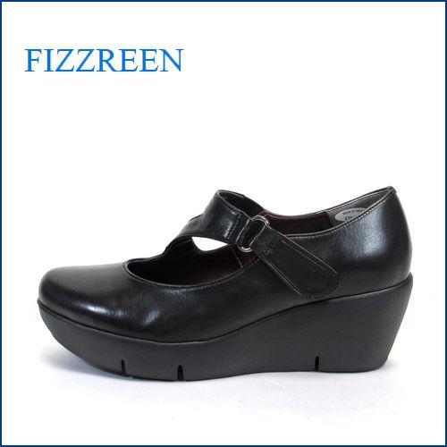 fizz reen フィズリーン fr3781bl  ブラック 【ぷっくりかわいい New 厚底ソール・・FIZZREEN・楽々・ストラップパンプス】