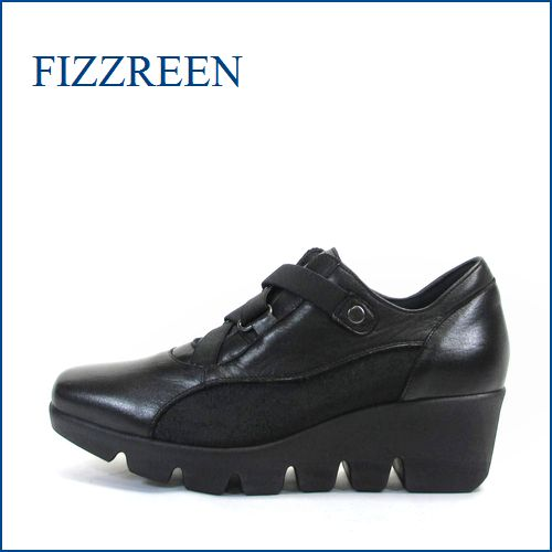 fizzreen フィズリーン  fr5041bl ブラック 【スポッ と履けて、ゴムゴム FIT・FIZZREEN・楽らく・厚底・ウェーブソール】