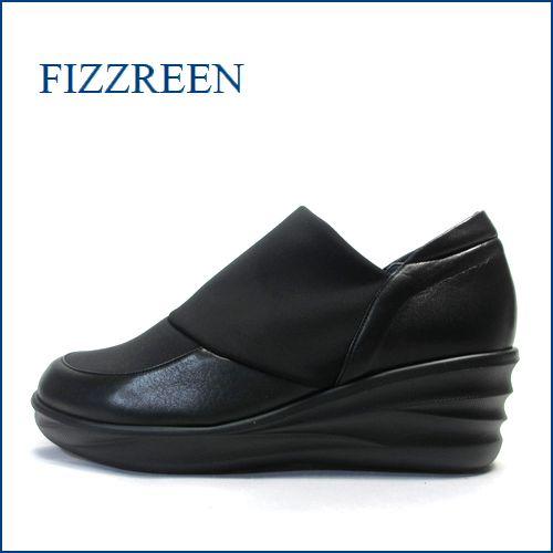 フィズリーン fizz reen fr6811bl ブラック 【シンプルさが理想的ね!!楽らくにすっぽり包み込む・・ fizzreen  厚底スリッポン】