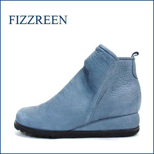 FIZZ REEN  フィズリーン fr9803bu  ブルー 【スポッと履ける巾広4E・・シンプルな可愛い FIZZREEN・・ショートブーツ】