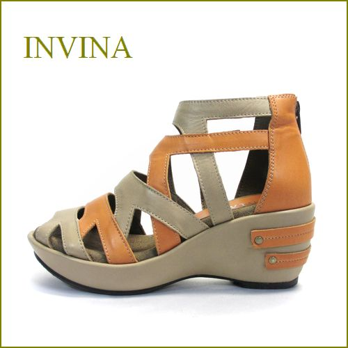 invina インビナ iv4102bg OGオーク 【プックリ、ボリュームのある・・厚底ソール・・invina・柔らかレザーサンダル】