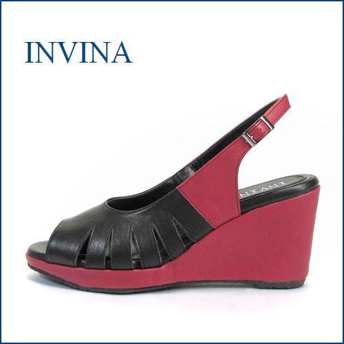 invina インビナ iv6804bl  ブラック  【上品・きれいで FIT・・・すっきりシンプルな・・・invina・・厚底 ウェッジソール 】