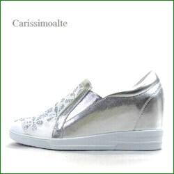 カリシモアルテ carissimo alte cs16991sl  シルバー 【可愛さ満点・・ラインストーン&お花レース・ carissimoalte インヒール・スリッポン】