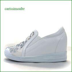 カリシモアルテ carissimo alte cs16991wt  ホワイト 【可愛さ満点・・ラインストーン&お花レース・ carissimoalte インヒール・スリッポン】