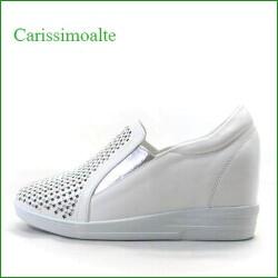 カリシモアルテ carissimo alte cs169999Cwt  ホワイト 【気軽に履けてワンランク昇格・・四角のラインストーン carissimoalte ・・インヒール・スリッポン】