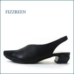 fizz reen フィズリーン fr1134bl ブラック 【細足に見せるきれいなシルエット・楽な幅広 ウィズ3E。。fizzreen バックストラップ・パンプス】