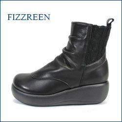 fizz reen フィズリーン fr1426bl  ブラック 【可愛いバルーンソールと・・まん丸ラウンドトゥ・・FIZZREEN 楽らく 厚底・ショート】