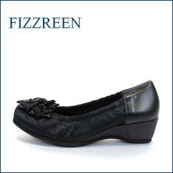 fizz reen フィズリーン fr2707bl ブラック 【かわいい上品リボン・・楽らくFITの・・FIZZREEN・・2重クッション・パンプス】