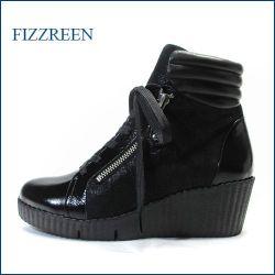 フィズリーン fizz reen  fr310ble ブラックE 【注目!新鮮パンプキンソール fizz reen ・足裏フワフワ感の・レースアップ】