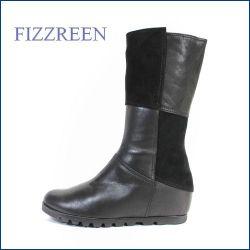 fizz reen フィズリーン fr3760bl ブラック 【美脚シークレットソールと・・・極厚クッション中敷き・・FIZZREEN・・ 楽らく シンプル・ブーツ】