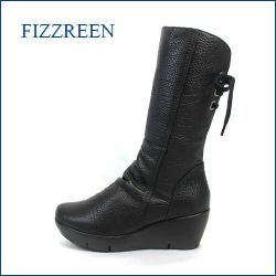 fizz reen フィズリーン fr3784bl ブラック 【ぷっくりかわいい New 厚底ソール・・FIZZREEN・後ろリボンブーツ】