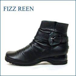 FIZZ REEN  フィズリーン fr6007bl  ブラック 【極やわらかなめし革の・・履きやすい・・fizzreen クラシカルなショートブーツ】