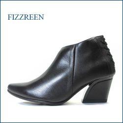 フィズリーン fizz reen fr7802bl ブラック 【大活躍!きれいにスッキリ・・かわいい後ろレースアップ fizz reen ・アンクルブ—ティー】