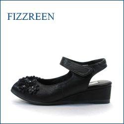 fizzreen  フィズリーン  fr8766bl ブラック 【かわいい上品な小花・・楽らくFITの・・FIZZREEN・・2重クッション・バックバンド】