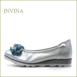 INVINA  インビナ iv3079sl  シルバー 【裏革ブルーが可愛さアップ!深めカットで脱げにくい invina 走れるカッターパンプス】