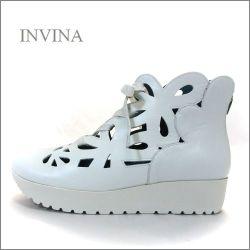 invina インビナ iv4452wt  ホワイト 【可愛いフラワーカット・・・リラックス効果のインソール。。invina 大人のスニーカースタイル】