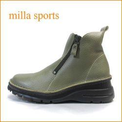 ミラ milla mi7032ka カーキ— 【おしゃれWジッパー・・軽い作りの・・milla・・アンクルショート】