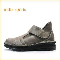 ミラ milla  mi7088br ロッシ—ブラウン 【軽い作りのラバーソール・・フィットするサイドゴア・・milla・・ベルト スリッポン】