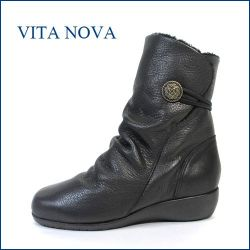 vita nova  ビタノバ vt6545bl  ブラック 【スポッと そのまま・・履ける 楽らくな・・・vita nova ワンクラス上の 履き心地・】