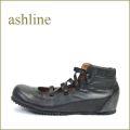 ashline アシュライン as66bl ブラック 【可愛いまん丸トゥ・・ゴムゴム・アンクル・・ashline・・ほっとする巾広4E・・ 】