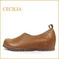 セシリア cecilia  ce02ca キャメル 【すっきりシンプルな可愛いフォルム・楽らくワイズ 巾広4E・・cecilia プレンパンプス】