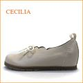 cecilia  セシリア  ce05va バニラ 【おしゃれフラワーカット・・・楽らくワイズ 巾広4E・・cecilia ひもひもスリッポン】