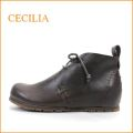 cecilia セシリア ce15500dn ダークブラウン 【かわいい丸さのラウンドトゥ・巾広4E・・cecilia  ひもひもアンクルブーツ】