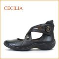 セシリア cecilia  ce1918bl ブラック 【ピタッとフィットするクロスベルト・柔らかインソールでもっとフィット・cecilia・パンプス】