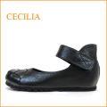 セシリア cecilia  ce5001bl ブラック 【可愛いメッシュのトゥ・フィットするアンクルベルト・cecilia・巾広4E パンプス】