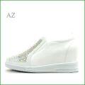 AZ az8690wt  ホワイト 【きれいなラインストーンとパンチングデザイン ・インヒールスリッポン】