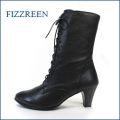 fizz reen フィズリーン fr1027bl ブラック 【こんなブーツに出会ったら。。おしゃれに活躍。。。 fizz reen ・天然ソフトレザーのレースアップブーツ】